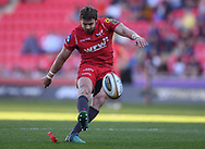 Scarlets Leigh Halfpenny<br /> <br /> Photographer Mike Jones/Replay Images<br /> <br /> Guinness PRO14 Round 22 - Scarlets v Cheetahs - Saturday 5th May 2018 - Parc Y Scarlets - Llanelli<br /> <br /> World Copyright &copy; Replay Images . All rights reserved. info@replayimages.co.uk - http://replayimages.co.uk