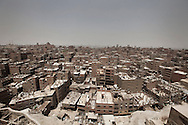 Egypt, Cairo: A panoramic view of  Moqattam, the christian coptic quarter in Cairo where live 40.000 Zabbaleen (garbage collectors). ph.Christian Minelli.