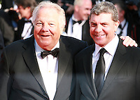 Massimo Gargia and guest at the the Mr. Turner gala screening red carpet at the 67th Cannes Film Festival France. Thursday 15th May 2014 in Cannes Film Festival, France.