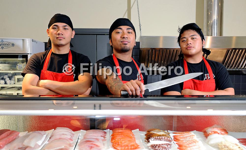 &copy; Filippo Alfero<br /> Kombu sushi - locali<br /> Torino, 20/05/2010