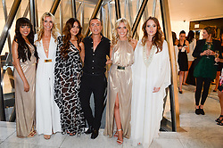 Left to right, DIONNE BROMFIELD, MELISSA ODABASH, ZARA MARTIN, JULIEN MACDONALD, MOLLIE KING and ROSIE FORTESCUE  at the launch of the Odabash Macdonald Resort 2014 swimwear collection at ME Hotel, London on 25th June 2013.