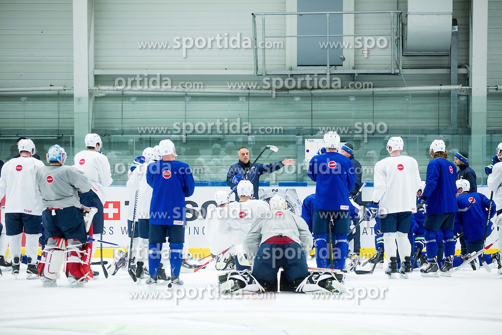 Matjaz Kopitar, head coach Slovenia during practice session of Slovenian National Ice Hockey Team 1 day prior to the 2015 IIHF World Championship in Czech Republic, on April 30, 2015 in Practice arena Ostrava, Czech Republic. Photo by Vid Ponikvar / Sportida