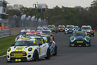 #15 Charlie BUTLER-HENDERSON MINI JCW  during MINI Challenge - JCW as part of the BRDC British F3/GT Championship Meeting at Oulton Park, Little Budworth, Cheshire, United Kingdom. April 17 2017. World Copyright Peter Taylor/PSP.