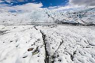 Terminus of Matanuska Glacier in Southcentral Alaska. Spring. Afternoon.