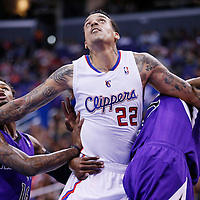 25 October 2013: Los Angeles Clippers small forward Matt Barnes (22) vies for the rebound with Sacramento Kings shooting guard Ben McLemore (16)  during the Sacramento Kings 110-100 victory over the Los Angeles Clippers at the Staples Center, Los Angeles, California, USA.