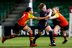 Lydia Thompson of Worcester Warriors Women takes on Sadia Kabeya of Richmond Women - Mandatory by-line: Robbie Stephenson/JMP - 11/01/2020 - RUGBY - Sixways Stadium - Worcester, England - Worcester Warriors Women v Richmond Women - Tyrrells Premier 15s