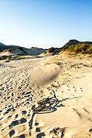 Dunas em área de preservação na Praia dos Açores. Florianópolis, Santa Catarina, Brasil. / Sand dunes in a preservation area at Acores Beach. Florianopolis, Santa Catarina, Brazil.