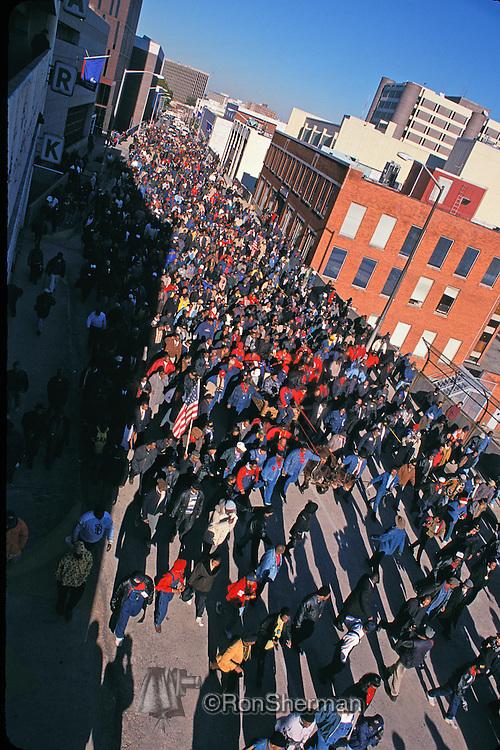 Civil rights leader Hosea Williams funeral procession in Atlanta, GA in 2000