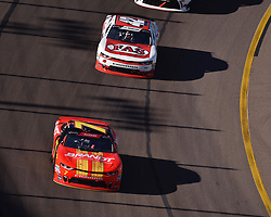 November 10, 2018 - Phoenix, Arizona, U.S. - PHOENIX, AZ - NOVEMBER 10:  Xfinity Series playoff contender Justin Allgaier (7) BRANDT Chevrolet leads John Hunter Nemechek (42) Chevrolet into the turn at the NASCAR Xfinity Series Playoff Race - Whelen 200  on November 10, 2018 at ISM Raceway in Phoenix, AZ.  (Photo by Lyle Setter/Icon Sportswire) (Credit Image: © Lyle Setter/Icon SMI via ZUMA Press)