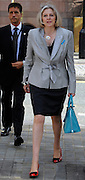 © Licensed to London News Pictures. 05/10/2011. MANCHESTER. UK. The Rt Hon Theresa May MP, Home Secretary at The Conservative Party Conference at Manchester Central today, October 5, 2011. Photo credit:  Stephen Simpson/LNP