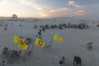 Smiley Face Flags My Burning Man 2018 Photos:<br />