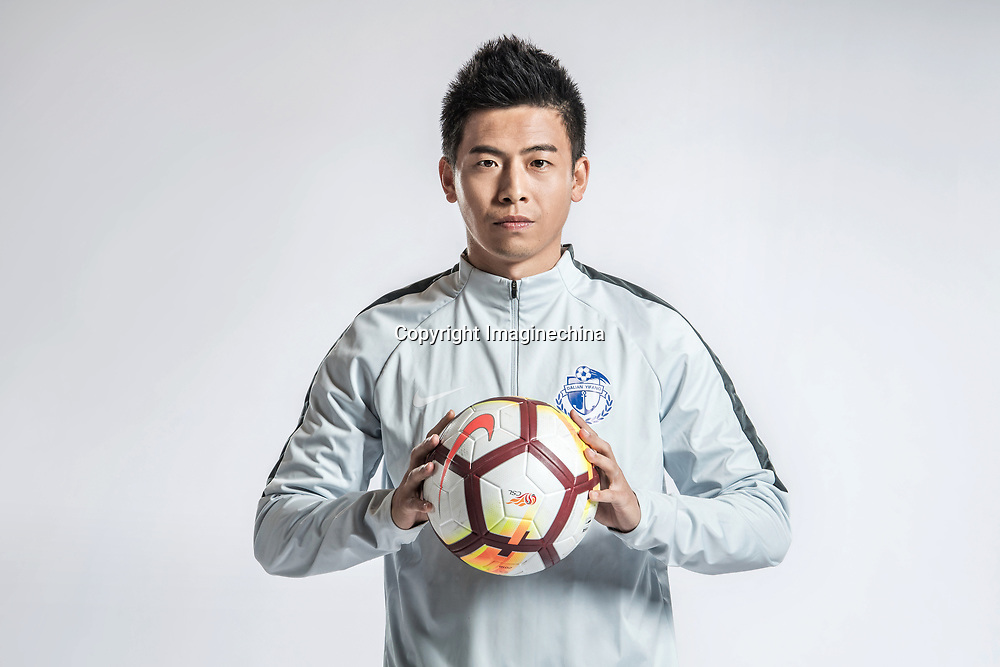 **EXCLUSIVE**Portrait of Chinese soccer player Zheng Jianfeng of Dalian Yifang F.C. for the 2018 Chinese Football Association Super League, in Foshan city, south China's Guangdong province, 11 February 2018.