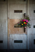 Los Angeles, April 8 2012- The cript of MarilynMonroe at Westwood Village Memorial Park Cemetery.