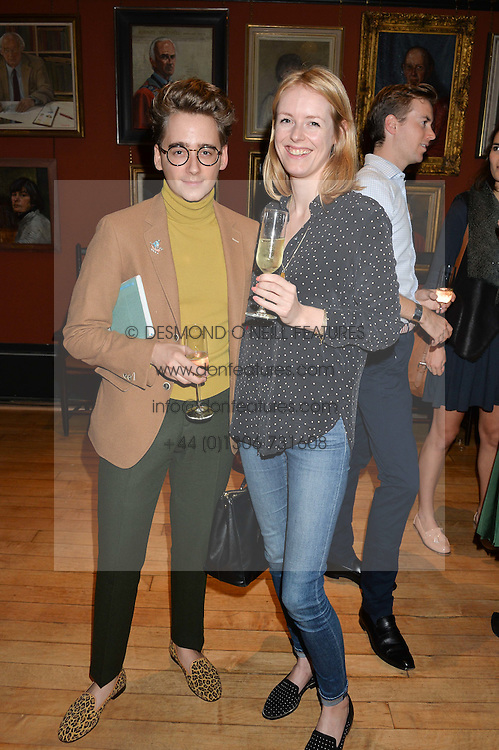 LUKE EDWARD HALL and LUCY WILKES at a party to celebrate the publication of English Houses by Ben Pentreath held at the Art Worker's Guild, 6 Queen Square, London on 28th September 2016.