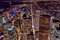 Toronto Financial District featuring King Street (center)
