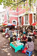 Sidewalk market. Yangon, Myanmar.