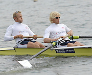 Reading, GREAT BRITAIN, Left [Bow] Alex PARTRIDGE and Andy TWIGGS-HODGE training in a pair after the GB Rowing 2007 FISA World Cup Team Announcement, at the GB Training centre, Caversham, England on Thur. 26.04.2007  [Photo, Peter Spurrier/Intersport-images]..... , Rowing course: GB Rowing Training Complex, Redgrave Pinsent Lake, Caversham, Reading