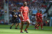 Saracens back row Billy Vunipola (8) looks at the scoreboard during the Gallagher Premiership Rugby Final match between Exeter Chiefs and Saracens at Twickenham, Richmond, United Kingdom on 1 June 2019.