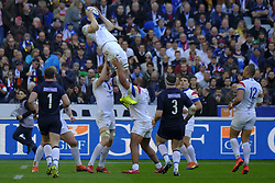 February 23, 2019 - Saint Denis, Seine Saint Denis, France - The Flanker of French Team WENCESLAS LAURET in action during the Guinness Six Nations Rugby tournament between France and Scotland at the Stade de France - St Denis - France..France won 27-10 (Credit Image: © Pierre Stevenin/ZUMA Wire)