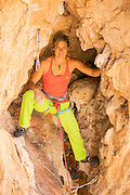 Portrait of professional climber Mayan Smith-Gobat