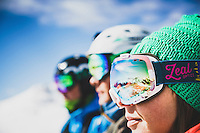 Averill Doering, Chip Kogelmann, and Josh Lincoln take in the view of the northern San Juan Mountains, Colorado.