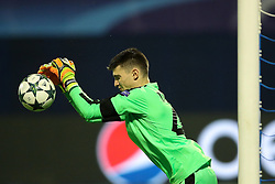 Domink Livakovic of GNK Dinamo Zagreb during football match between GNK Dinamo Zagreb and Olympique Lyonnais in Group H of Group Stage of UEFA Champions League 2016/17, on November 22, 2016 in Stadium Maksimir, Zagreb, Croatia. Photo by Morgan Kristan / Sportida
