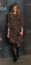 Tate Modern, London, April 26th 2017. Clemence Poesey arrives at the Tate Modern in London for the 'Lost In Space' 60th anniversary event for the Omega Speedmaster watch.
