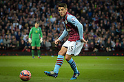 Ashley Westwood during the The FA Cup match between Aston Villa and West Bromwich Albion at Villa Park, Birmingham, England on 7 March 2015. Photo by Adam Rivers.