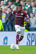 Danny Amankwaa (#12) of Heart of Midlothian during the Betfred League Cup semi-final match between Heart of Midlothian FC and Celtic FC at the BT Murrayfield Stadium, Edinburgh, Scotland on 28 October 2018.