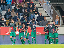 04.05.2018, Tivoli Stadion, Innsbruck, AUT, 2. FBL, FC Wacker Innsbruck vs WSG Swarovski Wattens, 32. Runde, im Bild Torjubel FC Wacker Innbsruck nach dem 1:0 durch Zlatko Dedic (FC Wacker Innsbruck) // during second Austrian Bundesliga 32nd round match between FC Wacker Innsbruck and WSG Swarovski Wattens at the Tivoli Stadion in Innsbruck, Austria on 2018/05/04. EXPA Pictures © 2018, PhotoCredit: EXPA/ Jakob Gruber
