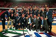 EUROPEI STOCCOLMA 2003<br /> FINALE 3 - 4 POSTO <br /> ITALIA - FRANCIA<br /> NELLA FOTO: TEAM PREMIAZIONE<br /> FOTO CIAMILLO
