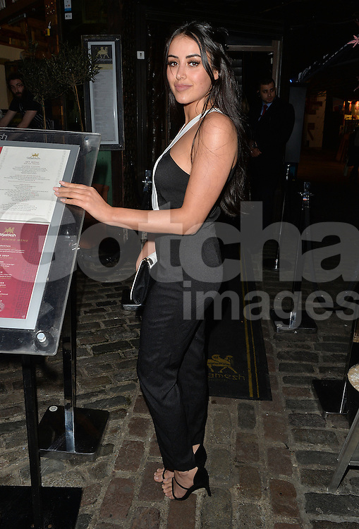 Geordie Shore's Marnie Simpson at the Gilgamesh restaurant in Camden Town, UK. 14/04/2016 <br />