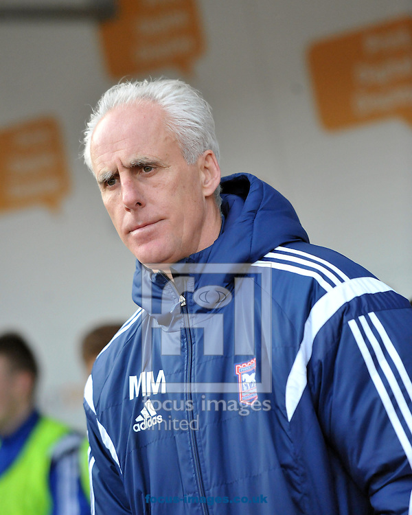 Mick McCarthy manager of Ipswich Town during the Sky Bet Championship match at the New York Stadium, Rotherham<br /> Picture by Graham Crowther/Focus Images Ltd +44 7763 140036<br /> 07/02/2015