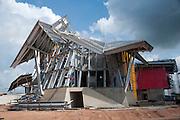 Construccion del Biomuseo de Panama. Primer edificio diseñado por Frank Gehry en America Latina. Panama, 20 de abril de 2012. (Victoria Murillo/ Istmophoto)