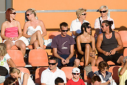 Spectators at 1st Round of Banka Koper Slovenia Open WTA Tour tennis tournament, on July 20 2009, in Portoroz / Portorose, Slovenia. (Photo by Vid Ponikvar / Sportida)