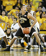 26 NOVEMBER 2007: Wake Forest center Chas McFarland (13) tries to look around Iowa forward/center Kurt Looby (52) in Wake Forest's 56-47 win over Iowa at Carver-Hawkeye Arena in Iowa City, Iowa on November 26, 2007.