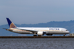 Boeing 787-9 Dreamliner (N27957) operated by United Airlines taxiing, San Francisco International Airport (KSFO), San Francisco, California, United States of America