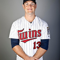Feb 19, 2013; Fort Myers, FL, USA; Minnesota Twins first baseman Jeff Clement (13) poses for a portrait during photo day at Hammond Stadium. Mandatory Credit: Derick E. Hingle-USA TODAY Sports