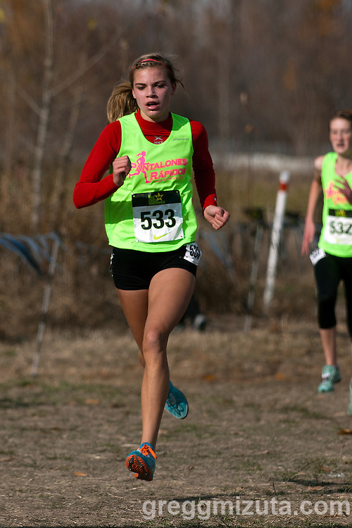 Emily Callahan. NXN Northwest Championships on November 10, 2012 at Eagle Island State Park in Boise, Idaho.