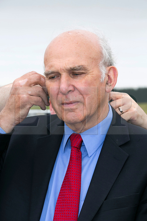 © Licensed to London News Pictures. 30/07/2014. MIRA, Nuneaton, Warwickshire, UK. Business secretary Vince Cable visited the driverless car project at MIRA earlier today. Photo credit : Dave Warren/LNP