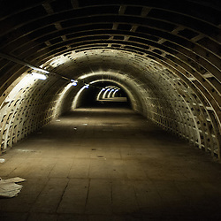London, UK - 21 February 2014: he Zero Carbon Food - Growing Underground tunnels.
