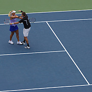 Carly Gullickson and Travis Parrott, USA, winning the mixed doubles final during the US Open Tennis Tournament at Flushing Meadows, New York, USA, on Thursday, September 10, 2009. Photo Tim Clayton
