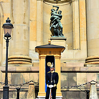 Royal Guard at Stockholm Palace in Stockholm, Sweden<br />