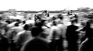 AT THE RACES, Jockeys mount up for the next race at Warwick Farm, near Sydney, Australia.