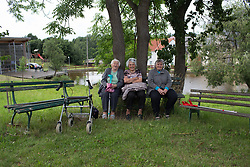 Local spectators wait for the action to start before Stage 2 of the Lotto Thuringen Ladies Tour - a 102.9 km road race, starting and finishing in Dortendorf on July 14, 2017, in Thuringen, Germany. (Photo by Balint Hamvas/Velofocus.com)