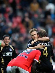 08-11-2009 VOETBAL: FC UTRECHT - HEERENVEEN: UTRECHT<br /> Utrecht verliest met 3-2 van Heerenveen / Kristian Bak Nielsen en Michel Breuer<br /> ©2009-WWW.FOTOHOOGENDOORN.NL