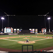 A panoramic view of Frontier Field during the Rochester Red Wings V The Scranton/Wilkes-Barre RailRiders, Minor League ball game at Frontier Field, Rochester, New York State. USA. 16th April 2013. Photo Tim Clayton