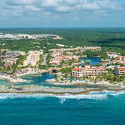 Aerial view of Puerto Aventuras. Riviera Maya. Mexico