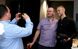 Gustav Engvall of Bristol City poses for a picture with Guests during the Lansdown Club event - Mandatory by-line: Robbie Stephenson/JMP - 06/09/2016 - GENERAL SPORT - Ashton Gate - Bristol, England - Lansdown Club -