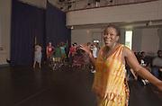 16491Zelma Badu-Younge teaching African Dance Class in Ridges Auditorium
